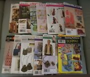 14 Purse Tote Bag Accessories Sewing Patterns Butterick-mccall-simplicity Uncut