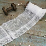 Pleated Dot Mesh Soft Tulle Fabric Guipure Ruffle Lace Trim Embroidery Ribbons