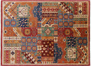 5and039 11 X 8and039 0 Hand-knotted Super Kazak Wool Rug - Q11027