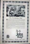 Antique Print Ref.920 1923 Advertisement John Haig Clubmanand039s Scotch Whisky