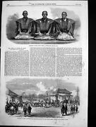 Old Antique Print Ministers State Japan Compensation Money Hms Pearl 1863 19th