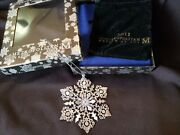2011 Mma Sterling Silver Snowflake Christmas Ornament Extremely Rare