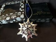 2012 Mma Sterling Silver Snowflake Christmas Ornament Extremely Rare