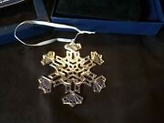2016 Mma Sterling Silver Snowflake Christmas Ornament Extremely Rare