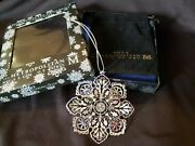2013 Mma Sterling Silver Snowflake Christmas Ornament Extremely Rare