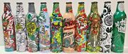 Lot Of 10 Unopened Collectible Green Label Art Mountain Dew Aluminum Bottles