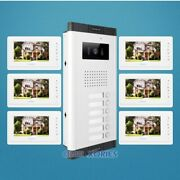 7 Apartment Videoandaudio Door Entry Kit Support Electric Lock For House/flat