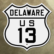 Delaware Us Route 13 Highway Marker Road Sign Shield Wilmington
