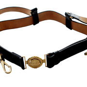 Cs American Civil War Cavalry Union Officers Leather Sword Belt With Cs Buckle