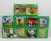 Lot Of 10 Jigsaw Puzzles 100 Pieces Kids Colorful Pack 8.25 X 11.25 Puzzlebug