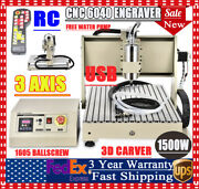 Usb 3 Axis Cnc 6040 Router Engraver Engraving Pcb Milling Machine 1500w+control