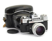 Zeiss Ikon Contarex Electronic 35mm Slr Film Camera With Planar 1.4/55mm