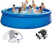 Swimming Pools Above Ground Pool - 12 Ft X 30 In Large Pool Family Pool Easy To