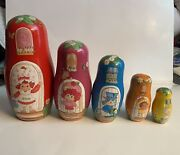Strawberry Shortcake Nesting Dolls.2003 License By American Greetings Inc.used