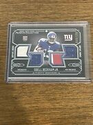 2014 Topps Museum Collection Odell Beckham Jr Rookie Rc Quad Relics /150 Giants