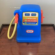 Vintage 80s Little Tikes Tykes Blue 18 Gas Pump For Cozy Coup-childs Petal Cars