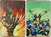 Two 8x12 Tin Signs Wolverine Superhero Comic Book Movie Claw Blades Wall Door