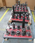 Lot Of 40 Metal Working Lathe And Dill Parts T173738
