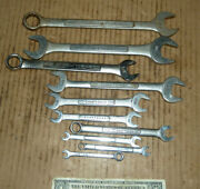 Vintage 10 Craftsman Wrenches,assorted,7/8 To 1/4,box,open,old Mechanic Tools
