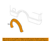 Gm Oem Bed-wheel Well Fender Flare Molding Right 15761285