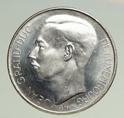 1964 Luxembourg Duchess Charlotte John The Blind Vintage Silver 100f Coin I94753