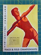 1935 Ncaa Track And Field Championship Program Prior To 1936 Olympics