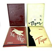 4 Vintage Yearbooks Dover Nj High School Tigers Books 1949-1952 + Letter Patch