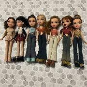 Bratz 2001 Lot Of 11 Dolls Dressed With Extra Clothing, Shoes, And Accessories