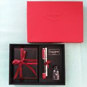 Campo Marzio Roma 1933 Iridium Point Fountain Pen 6 Inks Leather Notebook And Pad