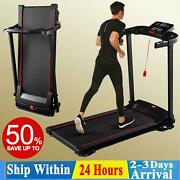 Treadmill 2.0hp Electric Motorized Folding Running Machine Home Office Gym Us