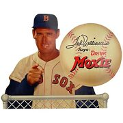 Ted Williams Red Sox Moxie Soda 1950s Vintage Cardboard Advertising Display Sign