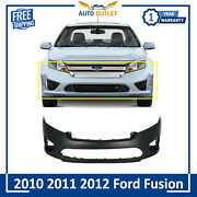 New Front Bumper Cover Primed Fascia For 2010-2011- 2012 Ford Fusion S 10 11 12
