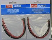 Lot Of 2 Any Scale Peco Lectrics Pl-82 Power Feed Joiners For Code 55 And 80 Rail
