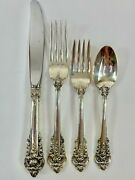 Wallace Grande Baroque Sterling Silver Place Setting - 4 Piece Set