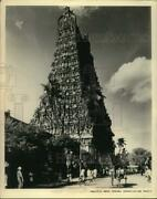 Press Photo Madurai Indiaand039s Meenakshi Temple Surrounded By Pyramid Towers