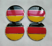 4x 56mm 2.2 Auto Car Wheel Center Cap Decal Sticker Germany Flag Logo For All