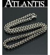 Ginza Store Chrome Hearts Rs Loop 20 Inches Necklace Silver Sv925