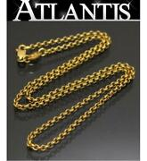 Ginza Store Chrome Hearts 22k Roll Chain Necklace 16 Inches Gold