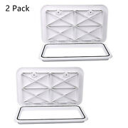 Amarine Made 2 Packs Marine Boat Deck Hatch Access Hatch And Lid 24 X 14 - White