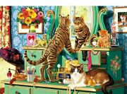 Diamond Painting Diy Cat Pet Looking In The Mirror Cute Design Lovely Embroidery