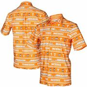 Tennessee Volunteers Tellum And Chop Floral Button-up Shirt - Tennessee Orange