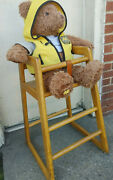 Vintage Mcdonaldand039s Kids Baby Wooden High Chair Made Of Solid Oak Ronald