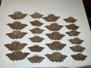 Large Lot Fruit And Nut Drawer Pulls 22 Pieces New Vintage Hand Carved