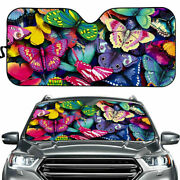 Car Windshield Sunshade Automotive Acessories Sun Visors Colorful Butterfly
