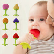 Newborn Silicone Grind Teeth Toys Safety Fruits Baby Teething Kids New