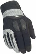 Cortech Menand039s Dxr Textile/leather Motorcycle Gloves Black/silver Xx-large