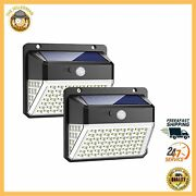 2 Pack Solar Lights Outdoor Wireless Security Night Light For Pathway Garden New
