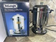 Delonghi Dcu60 Ultimate Coffee Maker Pot Urn 20 - 60 Cup Stainless Steel Euc