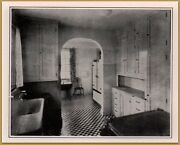 1926 Antique Kitchen Photos Built In Cupboards Washable Fabric Walls