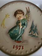M. J. Hummel Annual Plate First Edition 1971 Heavenly Angel In The Box